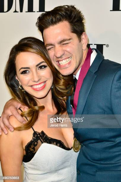 Aijia Lise and Andy Grammer attend the 62nd Annual BMI Pop Awards at Regent Beverly Wilshire Hotel on May 13 2014 in Beverly Hills California