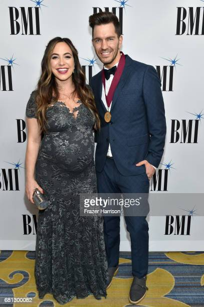 Aijia Lise and singersongwriter Andy Grammer at the Broadcast Music Inc honors Barry Manilow at the 65th Annual BMI Pop Awards on May 9 2017 in Los...
