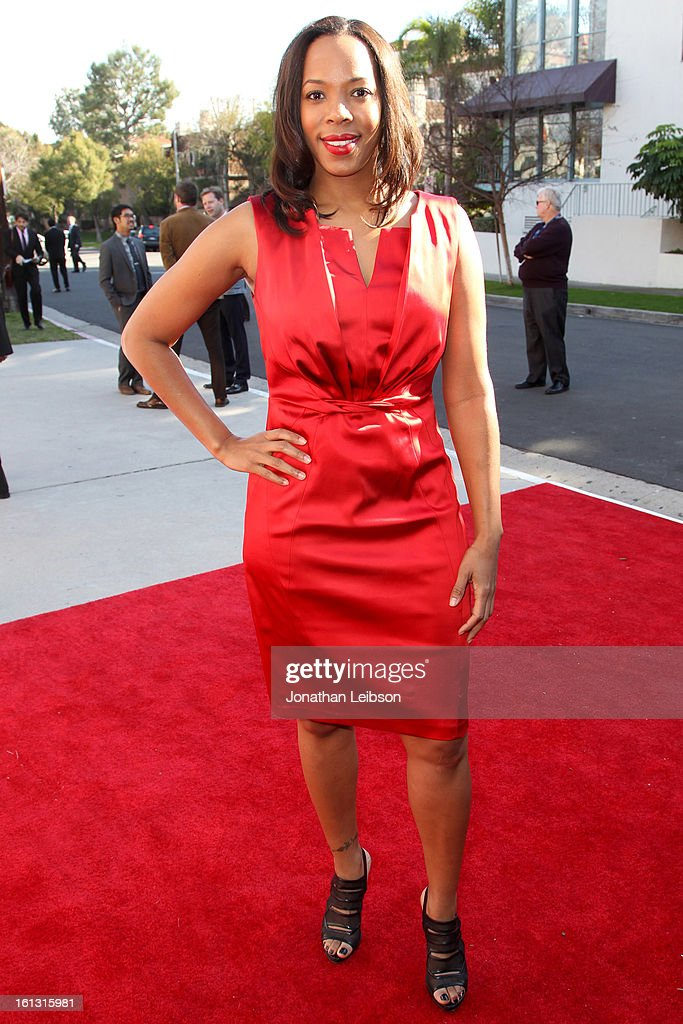 Aika Kendricks attends the Recording Academy's Special Merit Awards ceremony held at The Wilshire Ebell Theatre on February 9, 2013 in Los Angeles, California.