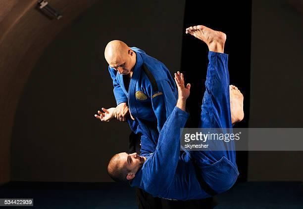 Aikido cubrecamas técnica.