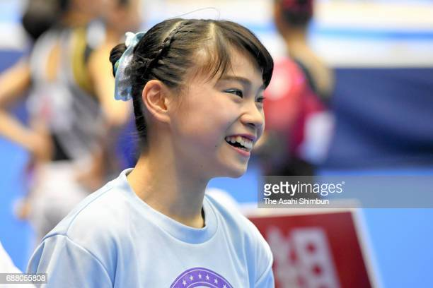 Aiko Sugihara is seen during day two of the Artistic Gymnastics NHK Trophy at the Tokyo Metropolitan Gymnasium on May 20 2017 in Tokyo Japan