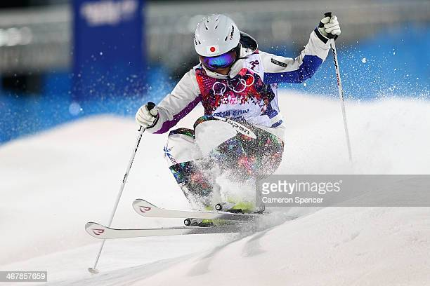 Aiko Uemura of Japan competes in the Ladies' Moguls Final 1 on day one of the Sochi 2014 Winter Olympics at Rosa Khutor Extreme Park on February 8...