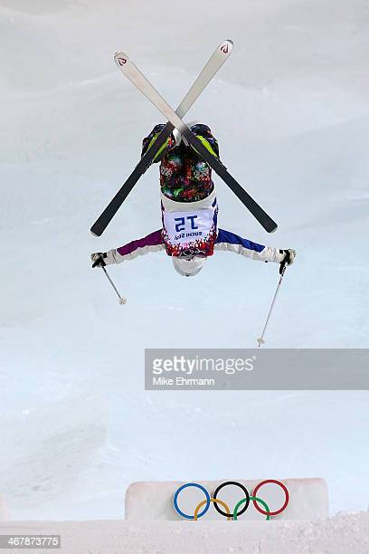Aiko Uemura of Japan competes in the Ladies' Moguls Final 2 on day 1 of the Sochi 2014 Winter Olympics at Rosa Khutor Extreme Park on February 8 2014...