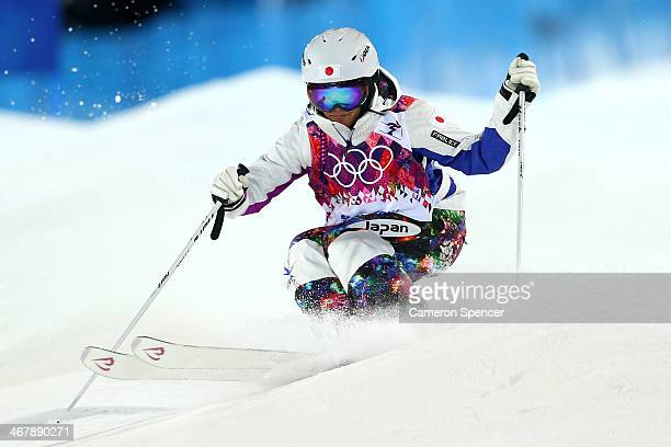 Aiko Uemura of Japan competes in the Ladies' Moguls Final 2 on day one of the Sochi 2014 Winter Olympics at Rosa Khutor Extreme Park on February 8...