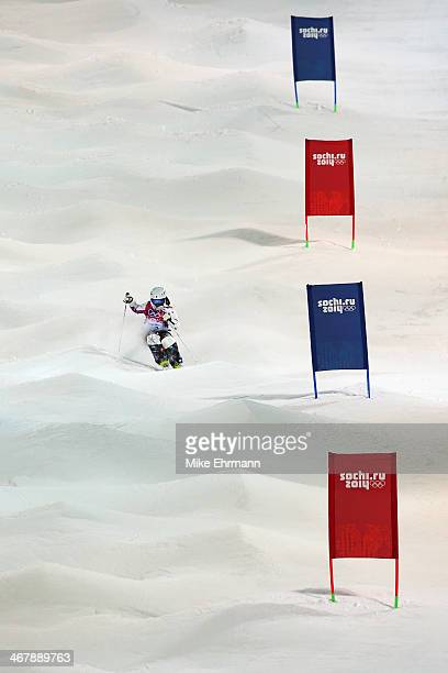 Aiko Uemura of Japan competes in the Ladies' Moguls Final 3 on day one of the Sochi 2014 Winter Olympics at Rosa Khutor Extreme Park on February 8...