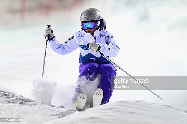 Aiko Uemura of Japan competes in the Ladies Moguls Final during the FIS Freestyle Ski World Cup Ruka on December 14 2013 in Kuusamo Finland