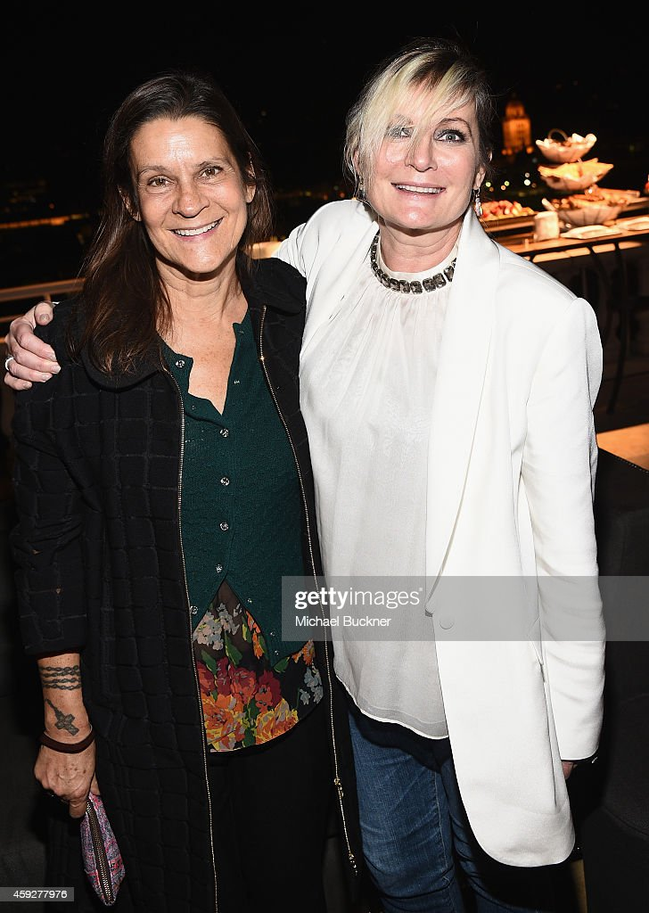 Aileen Getty and Ariadne Getty attend the August Getty Atelier Dinner at the Montage Hotel Rooftop Grill on November 19 2014 in Beverly Hills...