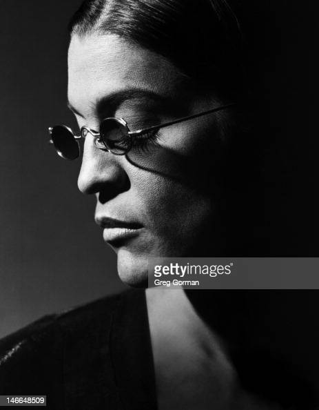Aileen Getty is photographed for Framed For LA Eyeworks on January 1 1982 in Los Angeles California