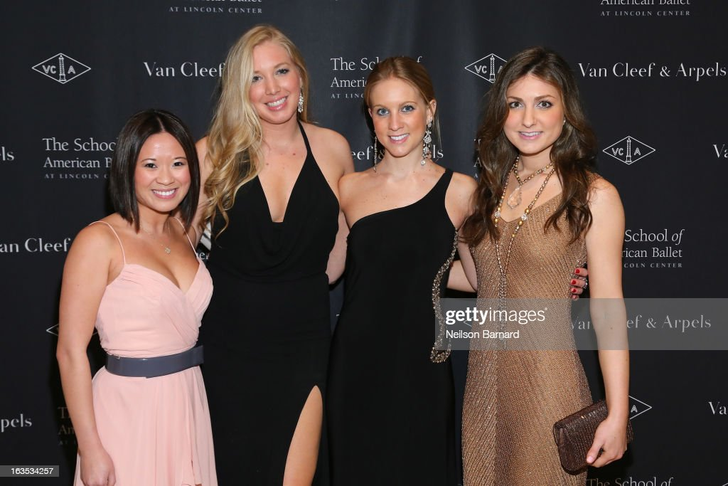 Ailene Lee, Leslie Demers, Sarah Mintz and Brittany Godsell attend the after party for the School of American Ballet 2013 Winter Ball at David H. Koch Theater, Lincoln Center on March 11, 2013 in New York City.