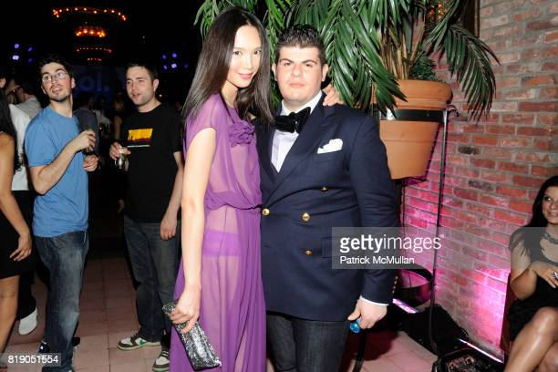 Aili Wang and Eli Mizrahi attend AOL's 25th Birthday Bash at The Bowery Hotel on May 26th 2010 in New York City