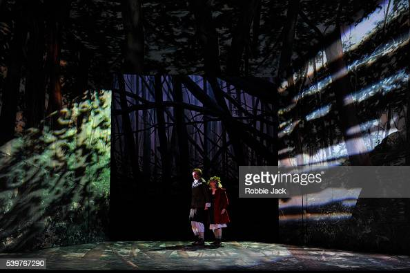 Ailish Tynan as Gretel and Christine Rice as Hansel in the Royal Opera's production of Engelbert Humperdinck's ' Hansel Und Gretel' directed by Moshe...