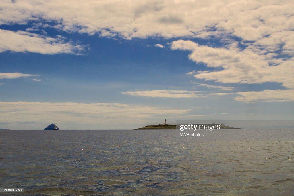 Ailsa Craig and Pladda Island, Scotland : Foto de stock