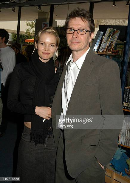 Ailsa Marshall and Gary Oldman during CD Launch Party For 'A World Of Happiness' at Storyopolis in Los Angeles California United States