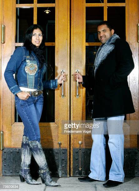 Ailton and his wife Rosali of Grasshopper Zrich poses on February 27 2007 in Zurich Switzerland