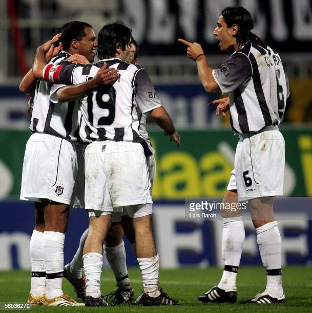 Ailton of Besiktas celebrates scoring the first goal during the match between Werder Bremen and Besiktas for the Efes Pilsen Cup on January 6 2006 in...