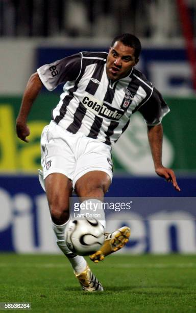 Ailton of Besiktas scores the first goal during the match between Werder Bremen and Besiktas for the Efes Pilsen Cup on January 6 2006 in Antalya...