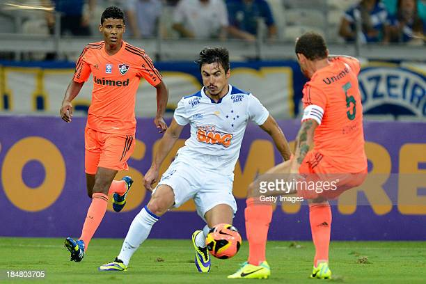 Ailton of Fluminense fights for the ball during a match between Cruzeiro and Fluminense as part of the Brazilian Series A 2013 on October 16 2013 in...