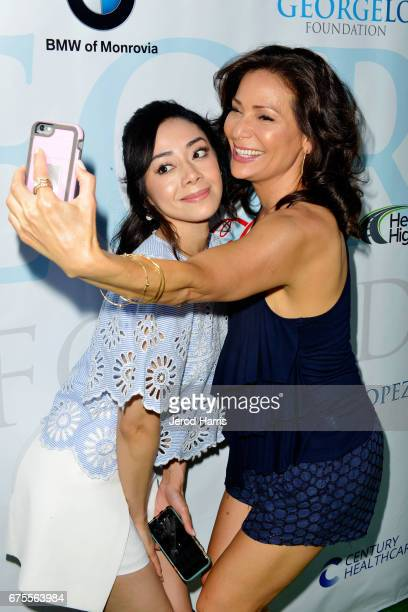 Aimee Garcia and Constance Marie attend the 10th Annual George Lopez Celebrity Golf Classic at Lakeside Country Club on May 1 2017 in Toluca Lake...
