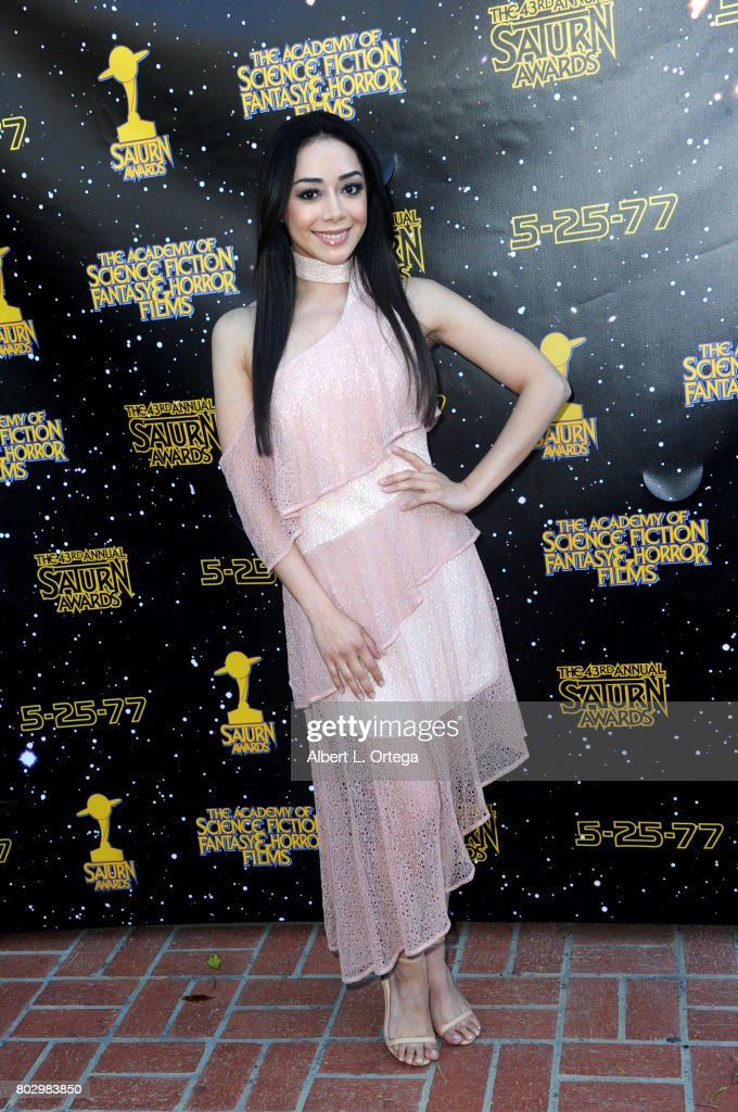 Aimee Garcia attends the 43rd Annual Saturn Awards at The Castaway on June 28, 2017 in Burbank, California.