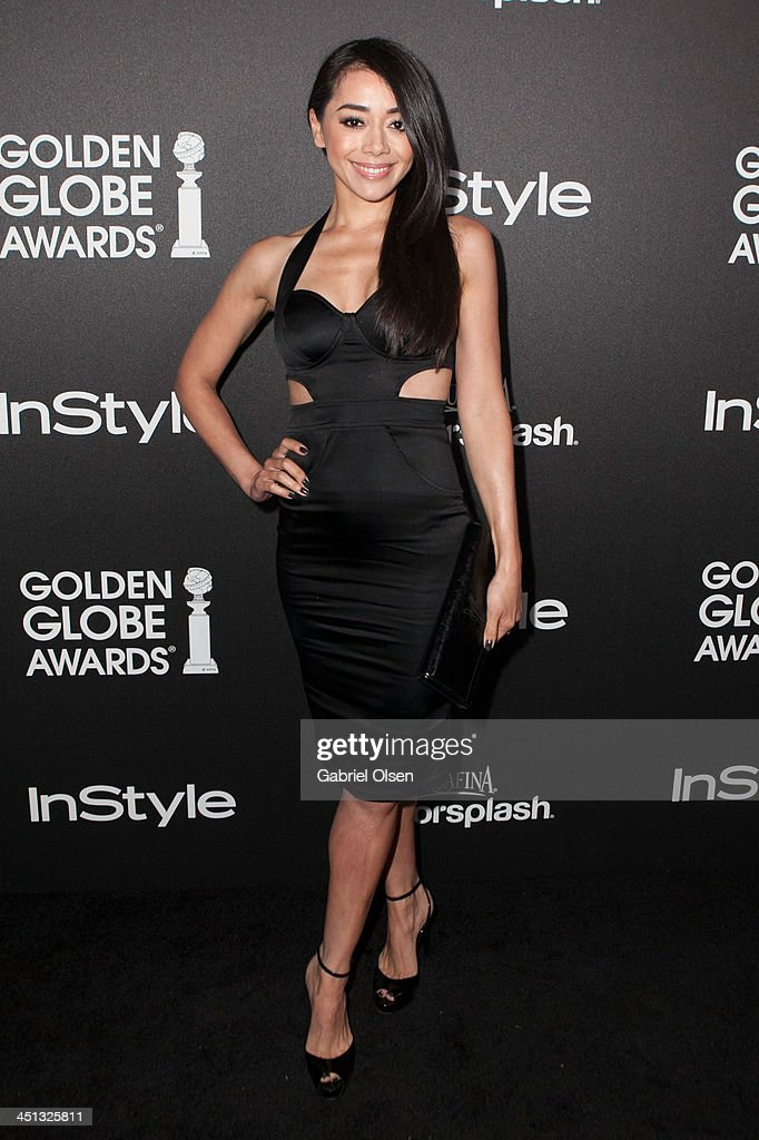 <a gi-track='captionPersonalityLinkClicked' href=/galleries/search?phrase=Aimee+Garcia&family=editorial&specificpeople=561569 ng-click='$event.stopPropagation()'>Aimee Garcia</a> attends The Hollywood Foreign Press Association (HFPA) And InStyle Celebrates The 2014 Golden Globe Awards Season at Fig & Olive Melrose Place on November 21, 2013 in West Hollywood, California.