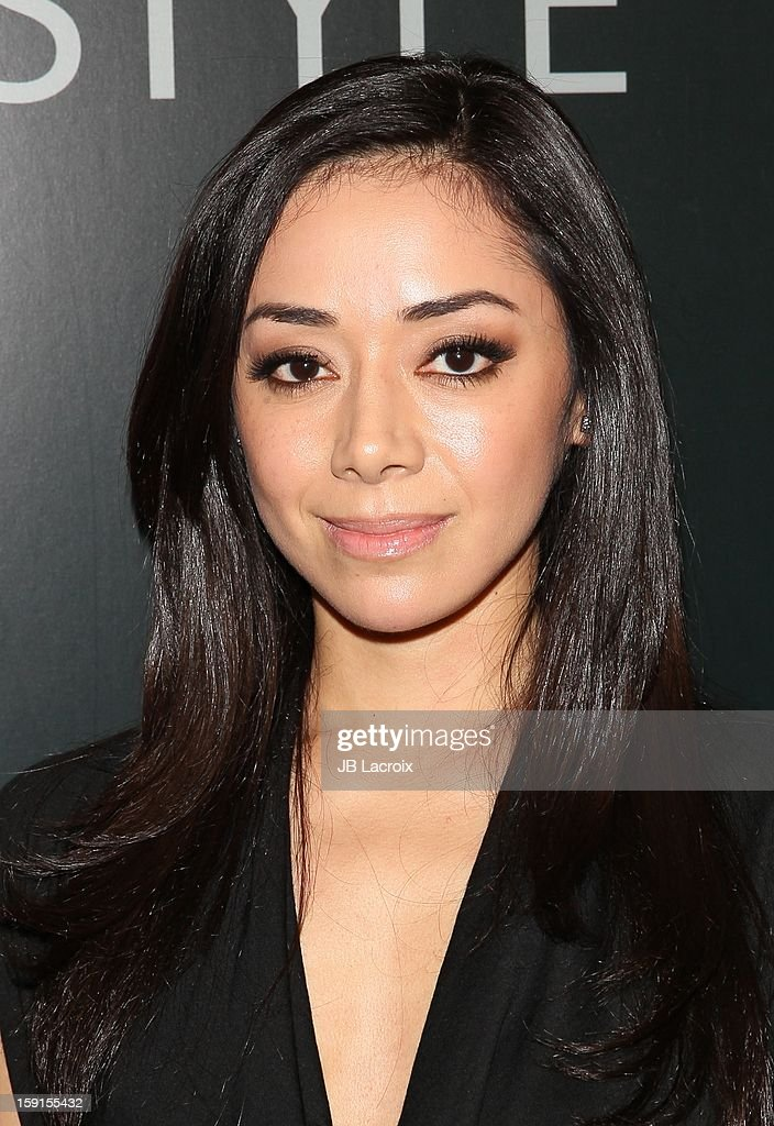 Aimee Garcia attends the W Magazine & Guess Host 30 Years of Fashion & Film Next Generation of Style Party at Laurel Hardware on January 8, 2013 in West Hollywood, California.