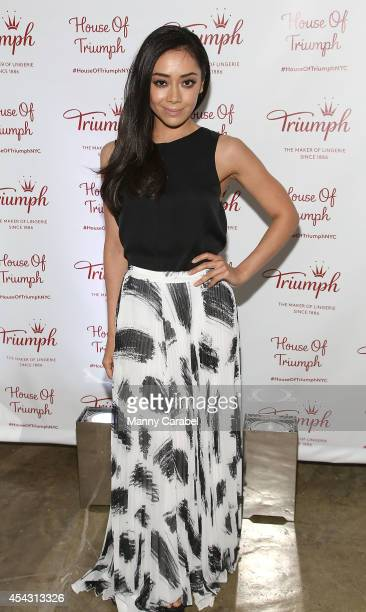 Aimee Garcia attends Triumph Lingerie's Magic Wire Launch Event at The Old Bowery Station on August 28 2014 in New York City