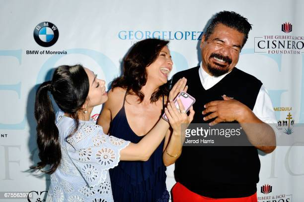 Aimee Garcia Constance Marie and George Lopez attend the 10th Annual George Lopez Celebrity Golf Classic at Lakeside Country Club on May 1 2017 in...