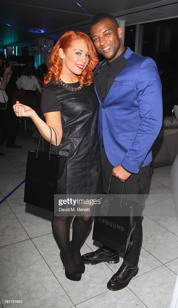 Aimee Jade; <a gi-track='captionPersonalityLinkClicked' href=/galleries/search?phrase=Oritse+Williams&family=editorial&specificpeople=5739700 ng-click='$event.stopPropagation()'>Oritse Williams</a> attend the Samsung Galaxy Gear and Note 3 launch event at the Radio Rooftop Bar, Hotel Me London on September 24, 2013 in London, England.