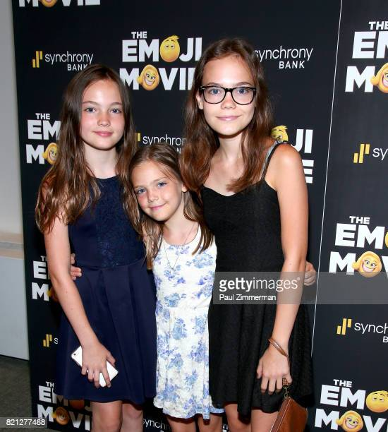 Aimee Laurence Jete Laurence and Oona Laurence attend 'The Emoji Movie' Special Screening at NYIT Auditorium on Broadway on July 23 2017 in New York...