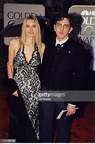 Aimee Mann and Michael Penn during 2000 Golden Globes Awards at Beverly Hilton Hotel in Beverly Hills California United States