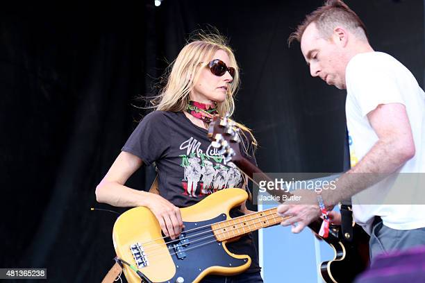 Aimee Mann and Ted Leo of The Both perform during Project Pabst 2015 at Zidell Yards on July 19 2015 in Portland Oregon
