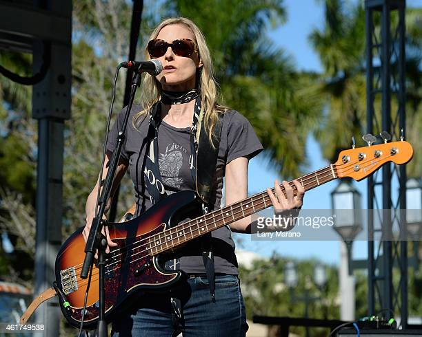 Aimee Mann of The Both performs at the Sunshine Blues Festival at Mizner Park Amphitheatre on January 18 2015 in Boca Raton Florida
