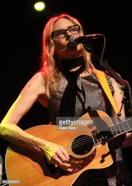 Aimee Mann performs during a concert at Kesselhaus on October 23 2017 in Berlin Germany