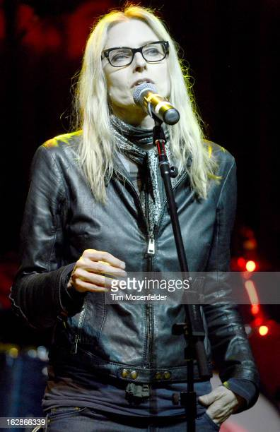 Aimee Mann performs during Petty Fest at The Fillmore on February 27 2013 in San Francisco California