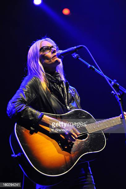 Aimee Mann performs on stage at the Royal Festival Hall on January 28 2013 in London England