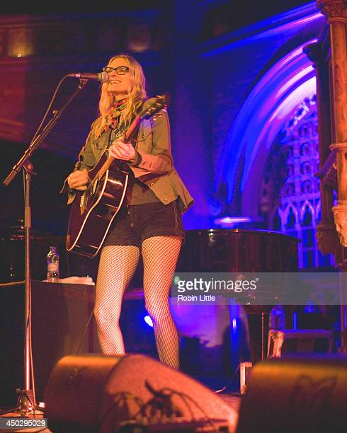 Aimee Mann performs on stage at the Union Chapel on November 17 2013 in London United Kingdom