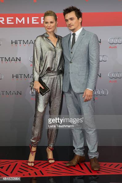 Aimee Mullins and Rupert Friend attend the 'Hitman Agent 47' world premiere at CineStar on August 19 2015 in Berlin Germany
