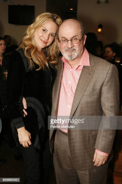 Aimee Mullins and Salman Rushdie attend PEN Edmont Holiday Benefit at The Half King on December 13 2009 in New York City