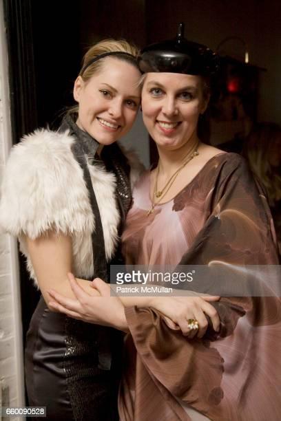 Aimee Mullins and Shoplifter attend VILLENCY EMERGING FASHION PROGRAM Dinner for ELISE OVERLAND and threeASFOUR at Bobo on January 21 2009 in New...