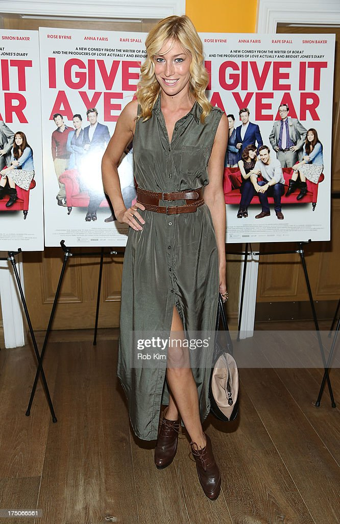 Aimee Ruby arrives at 'I Give It A Year' Special New York Screening at 79 Crosby Street on July 30, 2013 in New York City.