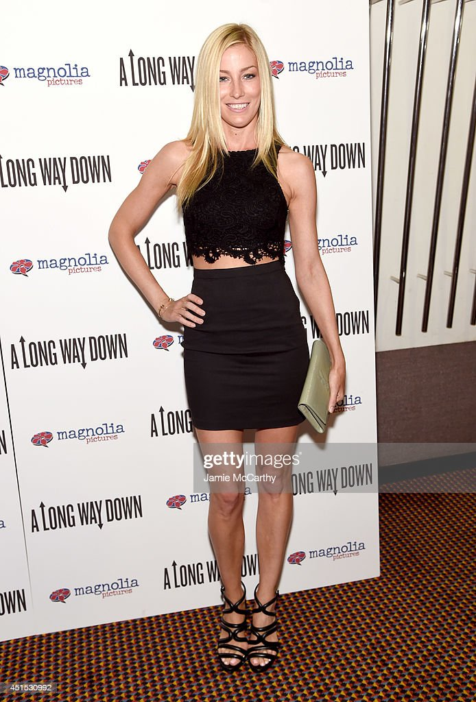 Aimee Ruby attends 'A Long Way Down' New York premiere at City Cinemas 123 on June 30, 2014 in New York City.