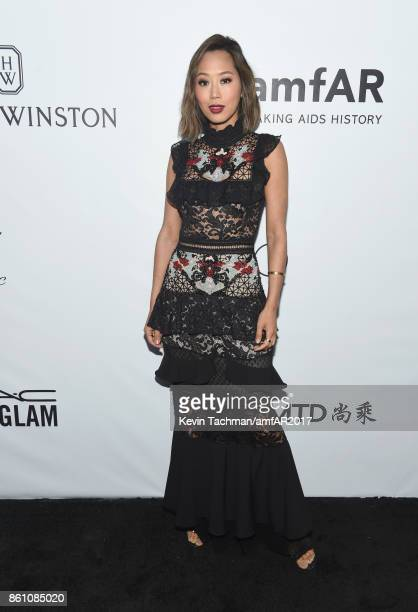 Aimee Song at amfAR Los Angeles 2017 at Ron Burkle's Green Acres Estate on October 13 2017 in Beverly Hills Californi