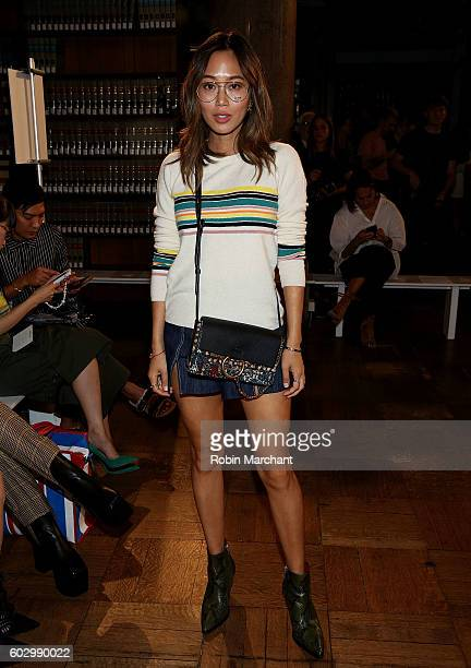 Aimee Song attends Sies Marjan Front Row September 2016 during New York Fashion Week on September 11 2016 in New York City