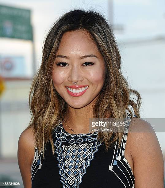 Aimee Song attends the BCBG Max Azria Resort 2016 collections at Samuel Freeman Gallery on August 6 2015 in Los Angeles California