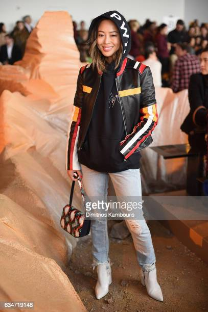 Aimee Song attends the Lacoste fashion show during February 2016 New York Fashion Week at Spring Studios on February 11 2017 in New York City
