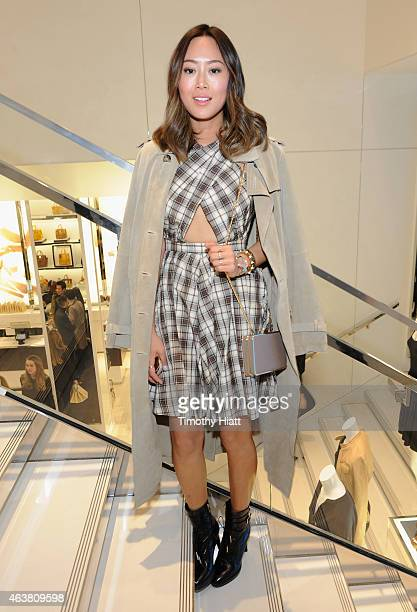 Aimee Song attends the Michael Kors Miranda Eyewear Collection Event on February 18 2015 in New York City