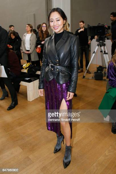 Aimee Song attends the Nina Ricci show as part of the Paris Fashion Week Womenswear Fall/Winter 2017/2018 on March 4 2017 in Paris France