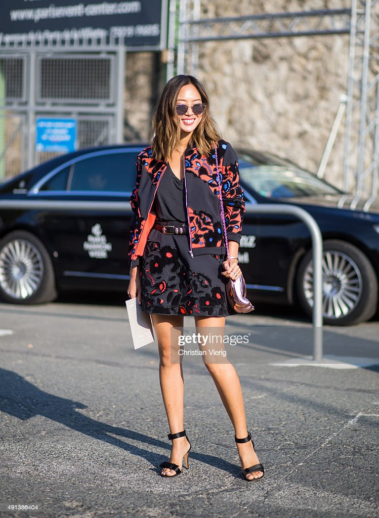 Aimee Song during the Paris Fashion Week Womenswear Spring/Summer 2016 on October 4 2015 in Paris France