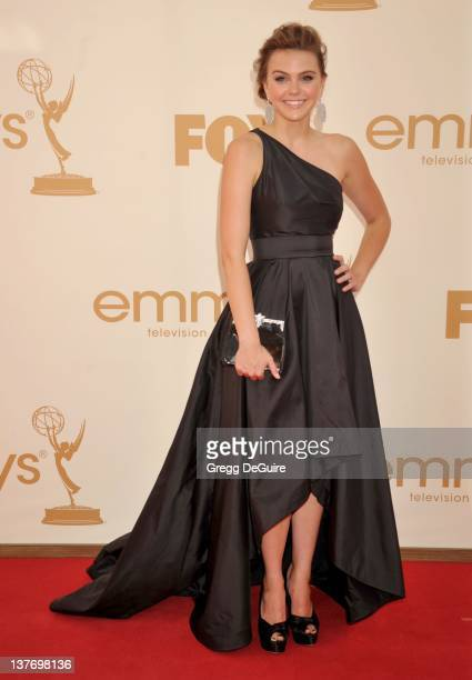 Aimee Teegarden arrives at the Academy of Television Arts Sciences 63rd Primetime Emmy Awards at Nokia Theatre LA Live on September 18 2011 in Los...