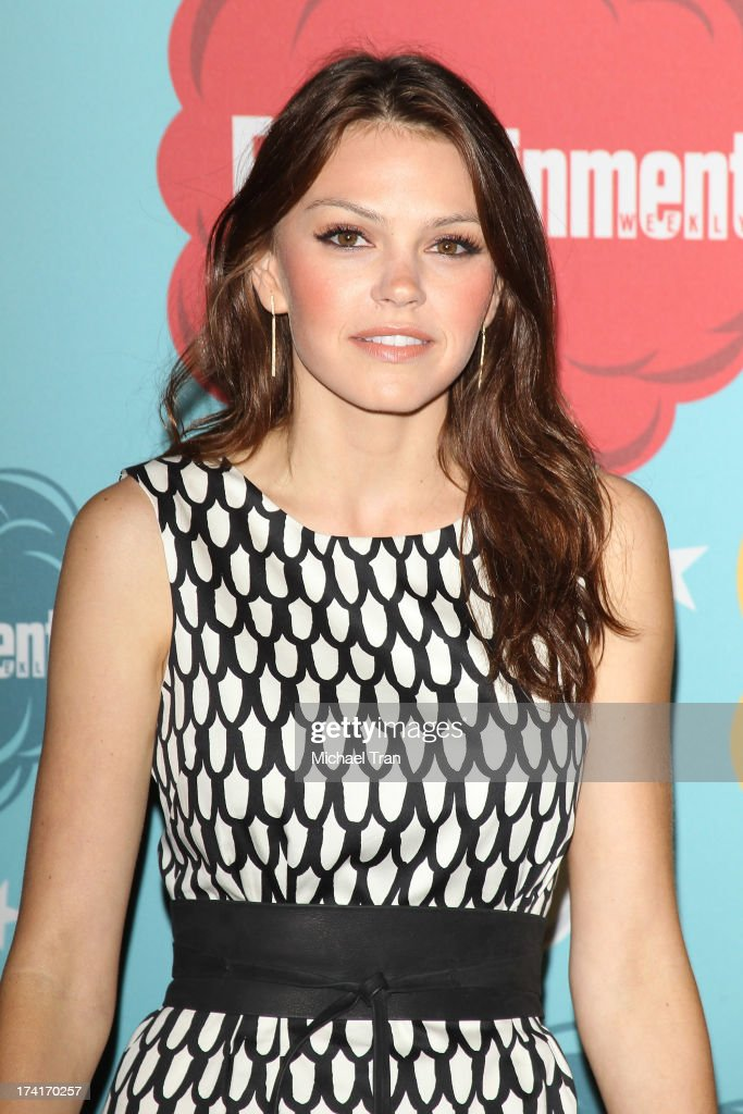 Aimee Teegarden arrives at the Entertainment Weekly's Annual ComicCon celebration held at Float at Hard Rock Hotel San Diego on July 20 2013 in San...
